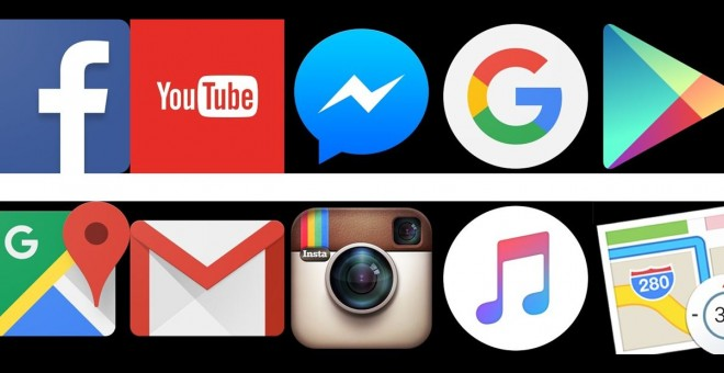 Las 'apps' más utilizadas en 2015: Facebook y YouTube