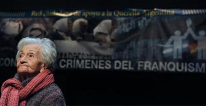 Ascensión Mendieta lleva una vida entera luchando por recuperar los restos de su padre, asesinado cuando ella era sólo una niña.- F.S.