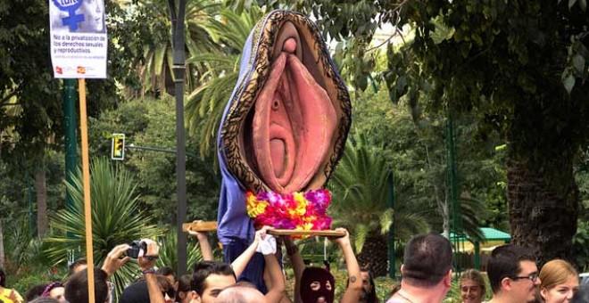Imagen de la 'Procesión del santísimo coño insumiso'