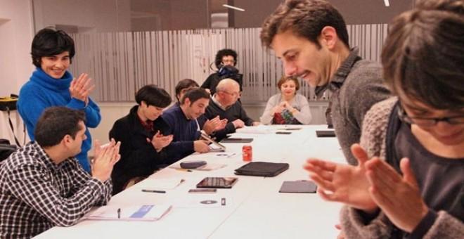 """Los concejales de participación de las ciudades del cambio durante el encuentro """"Ciudades por el bien común""""."""