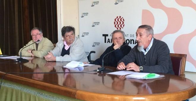 Carlos Slepoy durante la presentación de la moción ayer, jueves, en rueda de prensa.- CUP TARRAGONA