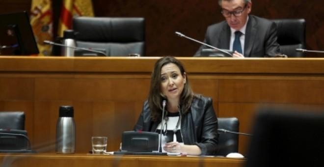 La consejera aragonesa de Educación, Mayte Pérez, impulsa la reforma del currículo de Bachiller que incluye la Memoria Histórica.