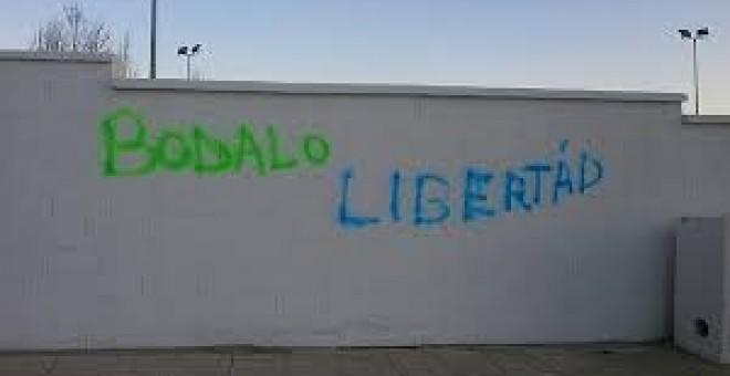Pintadas en Jódar, Jaen, reivindican la puesta en libertad del concejal Andrés Bódalo.- e.p.