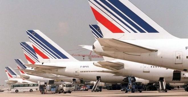 Aviones de Air France en el aeropuerto parisino Charles de Gaulle. EFE
