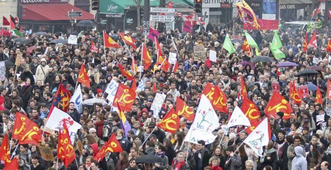 Protesta de este sábado en la capital francesa, París. REUTERS/ Charles Platiau