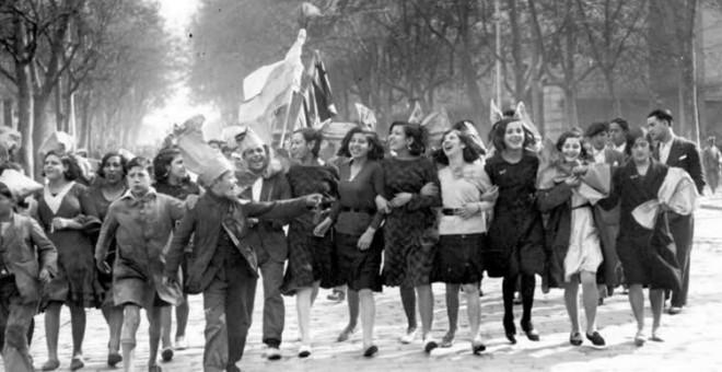 Imagen tomada en Madrid el 14 de abril de 1931, hace ahora 85 años
