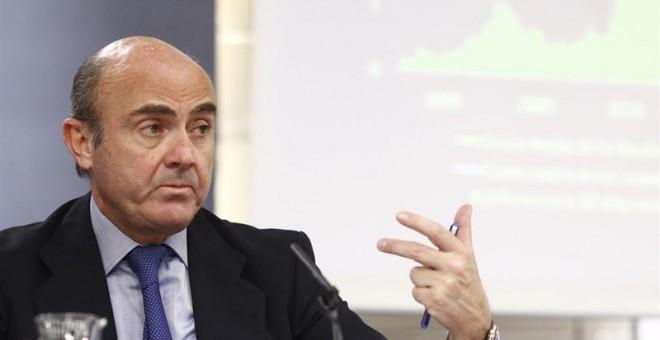 El ministro de Economía y Competitividad en funciones, Luis de Guindos