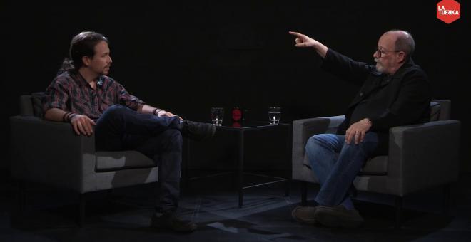 El cantautor cubano Silvio Rodríguez, entrevistado por Pablo Iglesias, en 'Otra Vuelta de Tuerka'