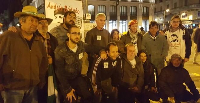 Miembros del SAT inician una huelga de hambre por la libertad de Bódalo. /TWITTER