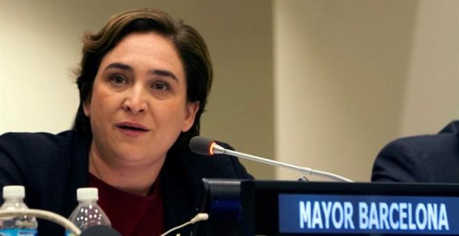 La alcadesa de Barcelona, Ada Colau, participa hoy lunes 16 de mayo de 2016, de la reunión preparatoria de la cumbre Hábitat III de la ONU, que tendrá lugar en Quito (Ecuador) entre el 17 y el 20 de octubre, y que tiene el objetivo de definir la nueva age