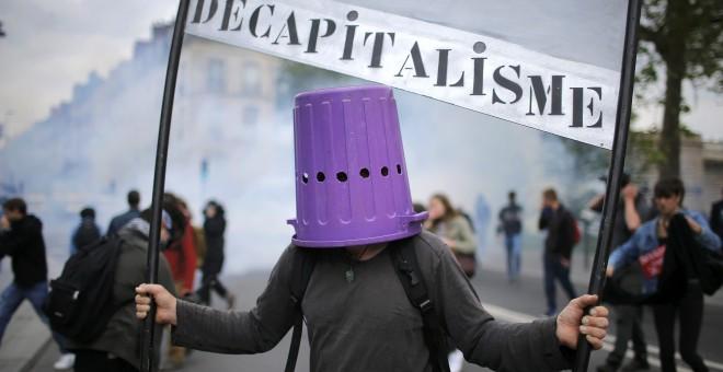 Continúan las protestas en Francia por la Ley de Reforma Laboral. Nantes, Francía. REUTERS/Stephane Mahe