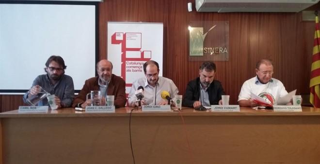 Momento de la rueda de prensa en la que han convocado la manifestación.- EUROPA PRESS