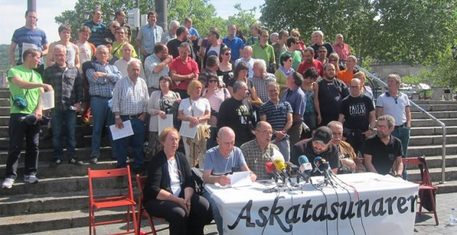 La asamblea Askatasunaren Bidean', formada por expresos y exrefugiados de ETA. EUROPA PRESS.