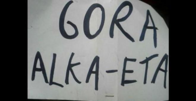 Cartel de la obra de teatro Gora Alka ETA