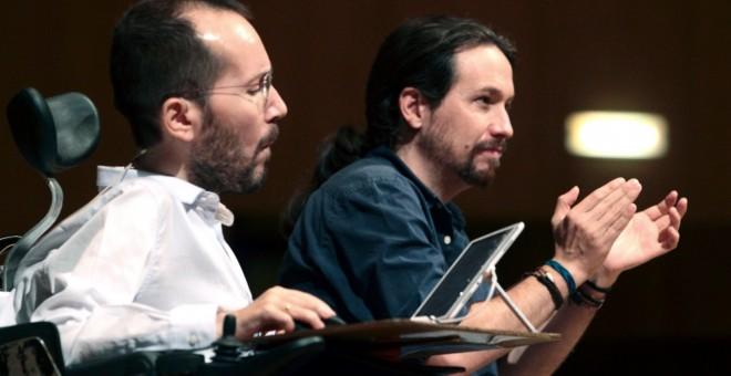 Echenique y Pablo Iglesias, en un acto de Podemos. EFE