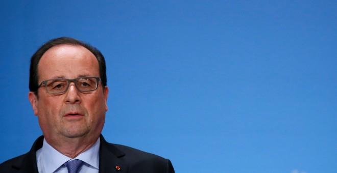 El presidente francés Francois Hollande, en un seminario en el Palacio del Eliseo, en París. REUTERS/Gonzalo Fuentes