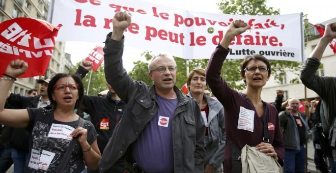 Manifestación en París contra la reforma laboral del pasado 26 de mayo. - REUTERS