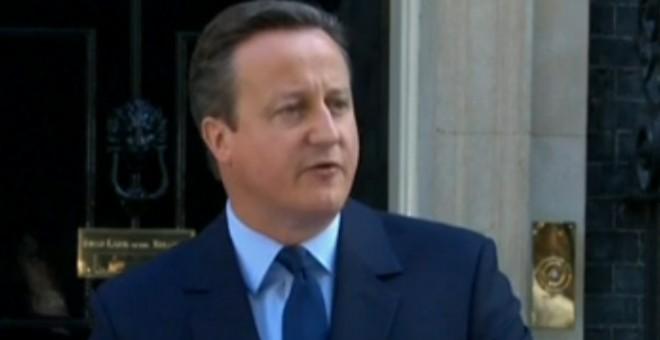 El primer ministro británico, David Cameron, comparece tras el respaldo del Reino Unido al Brexit.