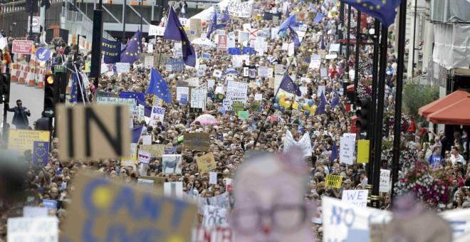 Vista de la marcha contra el Brexit.- REUTERS