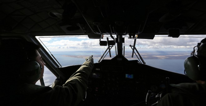 La Tierra del Fuego, en la Patagonia, vista desde un avión militar chileno.