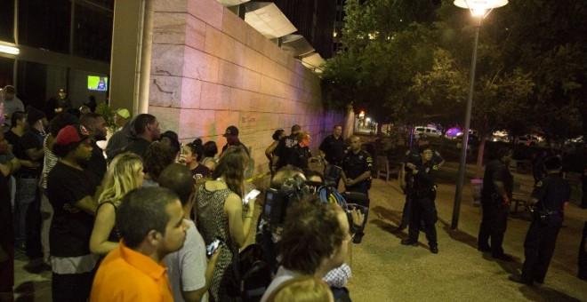 Imagen de la protesta en Dallas./ AFP