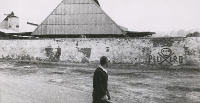 : Las pintadas en los muros de las industrias fueron un medio habitual de protesta durante el franquismo.