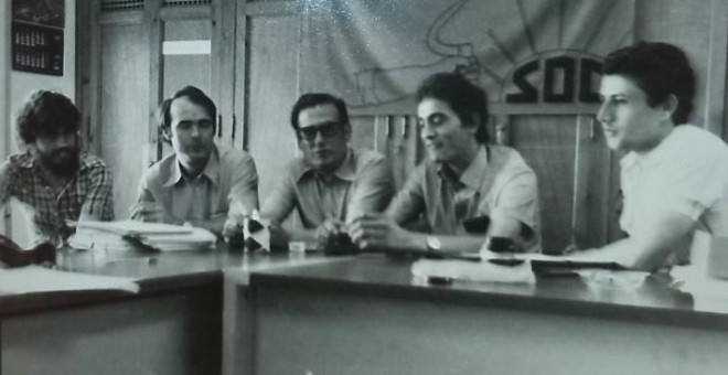 Miembros históricos del SOC con Diego Cañamero en la imagen (2)