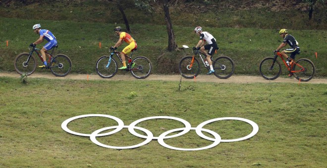 Momento de la prueba de moutain bike en Río 2016. /REUTERS