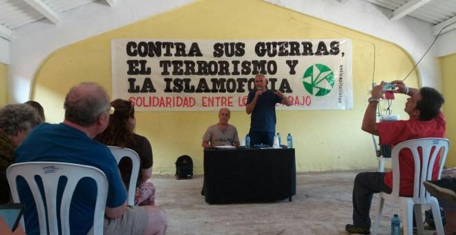 El parlamentario y sindicalista, Diego Cañamero, durante la VII Universidad de Verano Anticapitalista.