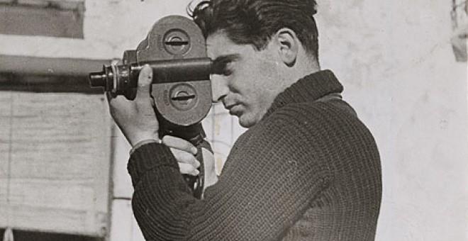 Foto de Robert Capa realizada por Gerda Taro en Segovia