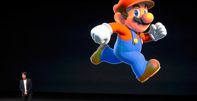 Un momento durante la presentación de 'Super Mario Run' en el evento de Apple en California.- BECK DIEFENBACH (REUTERS)