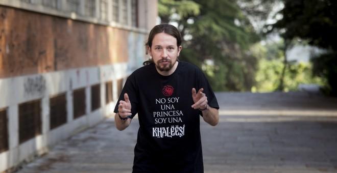 El líder de Podemos, Pablo Iglesias, a su llegada a la clausura de la Universidad del partido en la Universidad Complutense de Madrid. EFE/Luca Piergiovanni