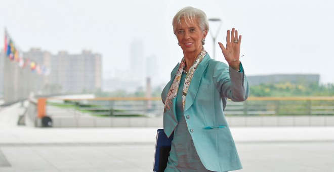 IMF Managing Director Christine Lagarde arrives at the Hangzhou Exhibition Center to participate to G20 Summit, in Hangzhou, Zhejiang province, China, September 4, 2016. REUTERS/Etienne Oliveau/Pool