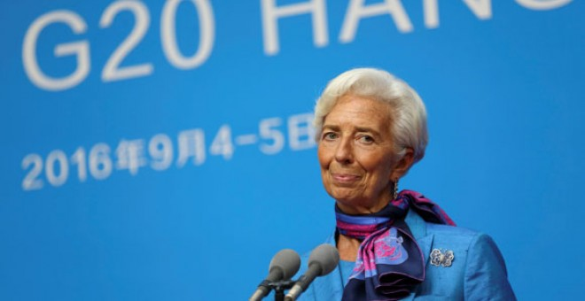 Lagarde, en un acto reciente del G-20 en China. REUTERS