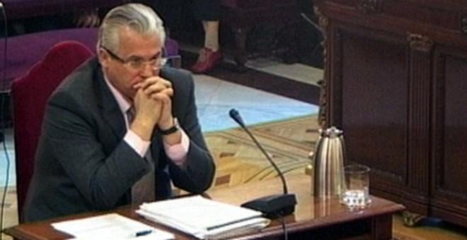 Baltasar Garzón, durante su juicio en el Supremo por investigar los crímenes del franquismo / EFE