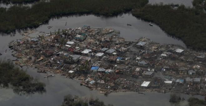 Una zona inundada en Corail, Haití, por las lluvias ocasionadas por el huracán Matthew. - REUTERS