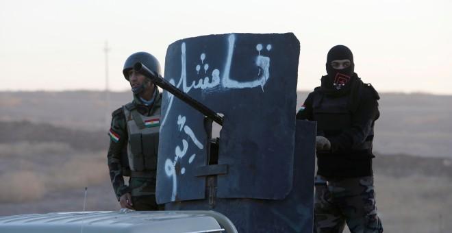 Combatientes kurdo-iraquíes de las fuerzas militares de Peshmerga. - REUTERS