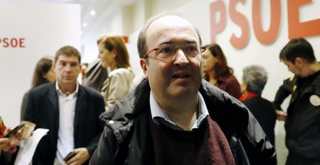 Miquel Iceta durante el Comité Federal del 23 de octubre / EFE