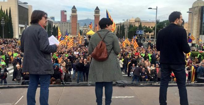 Concentración en Catalunya convocada por Òmnium Cultural, Assemblea Nacional Catalana (ANC) y Associació de Municipis per la Independència (AMI).