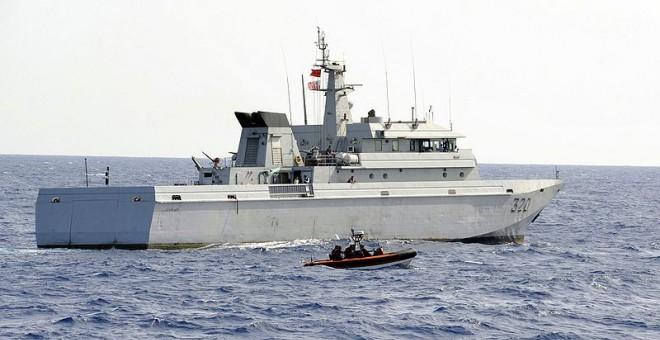 Imagen de archivo de una fragata de la Marina Real Marroquí.