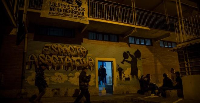 La fachada del local donde está la escuela de boxeo.