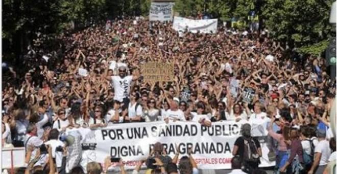 Manifestación ciudadana del pasado domingo en la capital granadina.