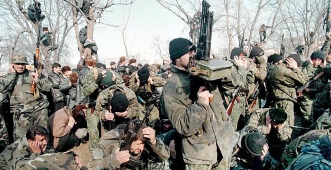 Soldados chechenos. / AFP