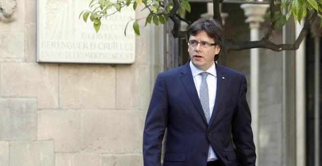 El presidente de la Generalitat, Carles Puigdemont, reta al Constitucional / EFE