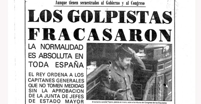 'La Voz de Galicia' abrió su portada del 24 de febrero de 1981 con el fracaso del golpe de Estado.