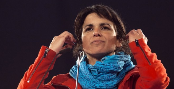 Teresa Rodríguez, durante un acto de Podemos en Sevilla. - AFP