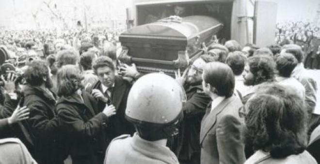 Funeral de los laboralistas asesinados en la matanza de Atocha