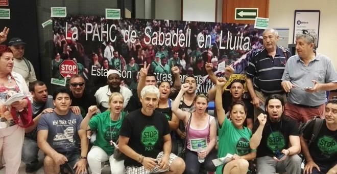 Una acció de la PAHC de Sabadell. / PAHC Sabadell