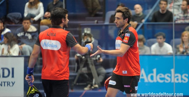 Bela y Lima, en el Euskadi Open. /WORLD PADEL TOUR