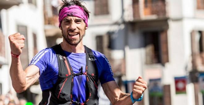 Luis Alberto Hernando celebra una de sus victorias. /WEB PERSONAL